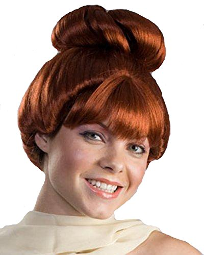 Wilma Flintstone Wig The Flintstones Red Auburn Cave Girl Costume Womens Adult