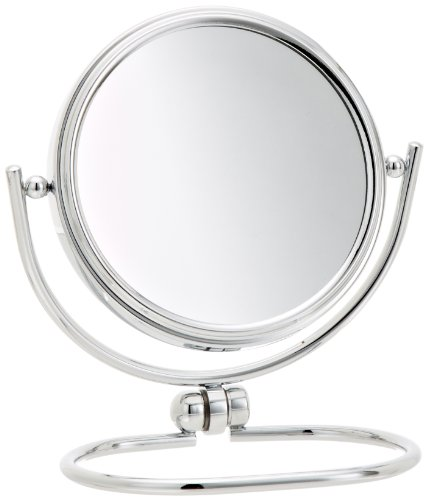 Jerdon Mc310C 3-Inch Mini Folding Two-Sided Swivel Travel Mirror With 10X Magnification And Velveteen Storage Pouch, Chrome Finish