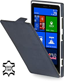 buy Stilgut Ultraslim, Genuine Leather Case For Nokia Lumia 920, Old Style Ocean Blue