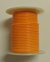 ORANGE 28AWG Stranded 600V, Teflon® Insulated Hook Up Wire - 100' Roll