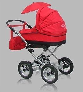 """""""Simply"""" - Cochecito de Bebé con Ruedas de 12"""" Color Rojo en BebeHogar.com"""