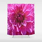 Society6 - Lush Pink Dahlia Shower Curtain by Judy Palkimas
