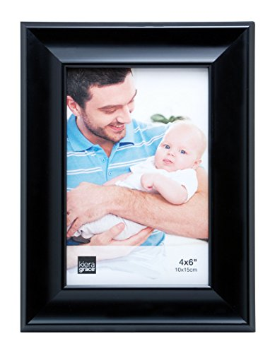 Kiera Grace Reagan Picture Frame, 4 by 6 Inch, Black