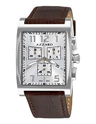 Azzaro Men's AZ1250.12SH.003 Chronograph Silver Dial Brown Strap Watch