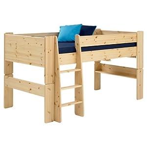Steens Pine Mid Sleeper Raised Childrens Single Bed Frame