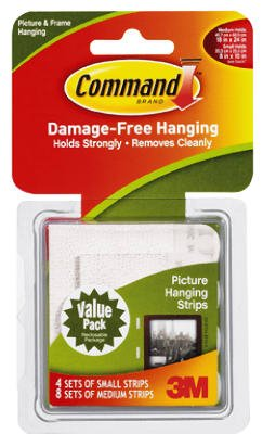 3M Command Small and Medium Picture Hanging Strips