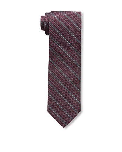 Bruno Piatelli Men's Printed Silk Tie, Burgundy