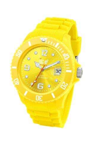 Ice Watch - SI.YW.B.S.09 - Montre Homme - Quartz Analogique - Cadran Jaune - Bracelet Silicone Jaune - Grand Modèle