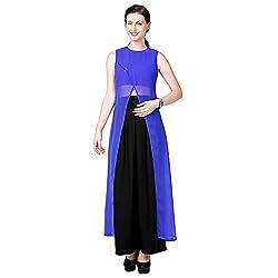 Eavan Women's Party Wear Crop kurta Polyester Kurta