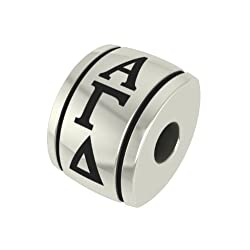 Alpha Gamma Delta Barrel Sorority Bead Charm Fits Most Pandora Style Bracelets Including Pandora Chamilia Biagi Zable Troll and More. High Quality Bead in Stock for Fast Shipping