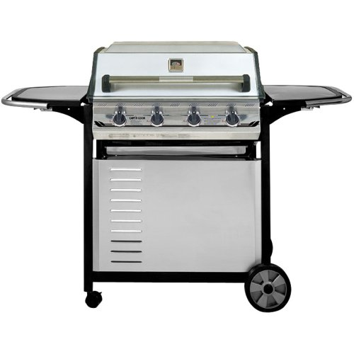 On Black And Stainless Steel Cart (Natural Gas) : Patio, Lawn & Garden