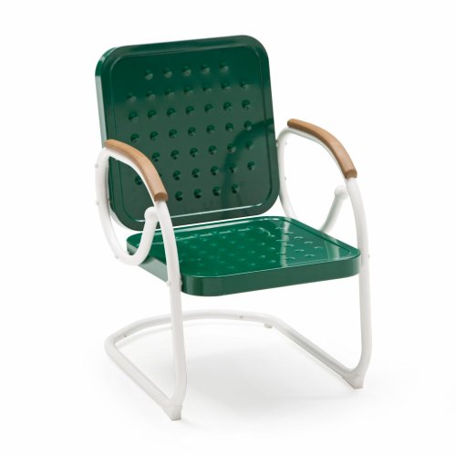 Coral Coast Coral Coast Rockwell Retro Steel Bistro Spring Chair, Dark Green, Metal, 19W X 19D In. front-876690
