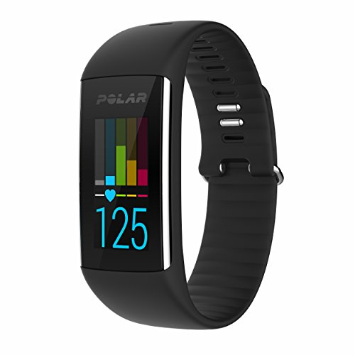 Polar A360 Fitness Tracker with Wrist Heart Rate Monitor (Black, Small)