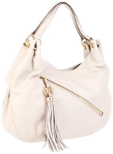 MICHAEL Michael Kors Charm Tassel Large Shoulder Tote Shoulder Handbags - Bone