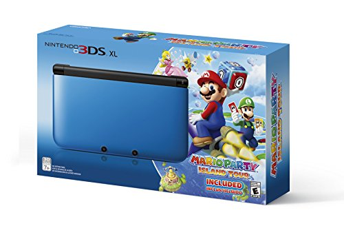 Nintendo 3DS XL Blue/Black Limited Edition with Mario Party: Island Tour Game (3ds Xl Console Limited compare prices)