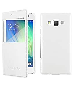 Flip Cover For Samsung Galaxy E5-White With Free Key Ring