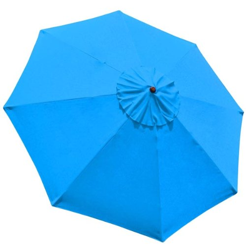 Patio Umbrella Uv Protection: Heavy Duty Blue Polyester 10x10 Ft Patio Replacement