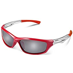 Duduma Polarized Sports Sunglasses for Running Cycling Fishing Golf Tr90 Unbreakable Frame (red/black)