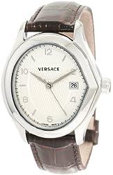 Versace Men's 20Q99D001 S497 V-Master Swiss Quartz White Date Watch
