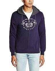 IZOD Men's Cotton Sweatshirt (8907036863932_ZJSS0276_X-Large_Blue)