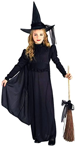 Classic Witch Child Costume, Girls Small (size 4 to 6)