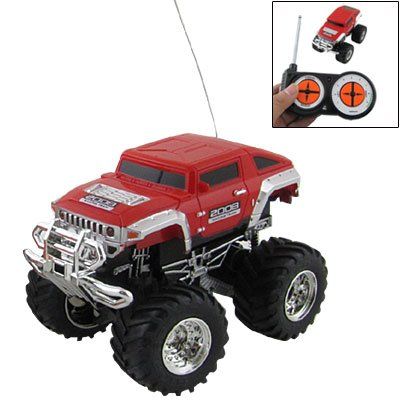 1:43 Scale Racing Car Radio Remote Control RC 4x4 Truck Humvee Toy Red for Child