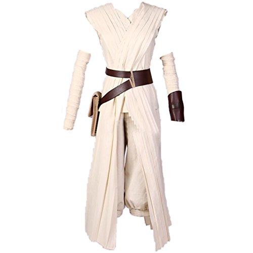 ETASSO Damen Star Wars Rey Force Awakens Kostüme Cosplay Kostüm Für Weihnachten Halloween Partie Kleidung