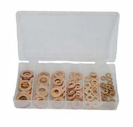 Toolzone 140pc Solid Copper Washers