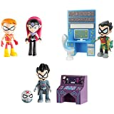 """Teen Titans Go 2.75"""" Figures Bundle Set - 3 Items: Sarfire with Speedy, Red X with Accessory, and Robin with Accessory"""