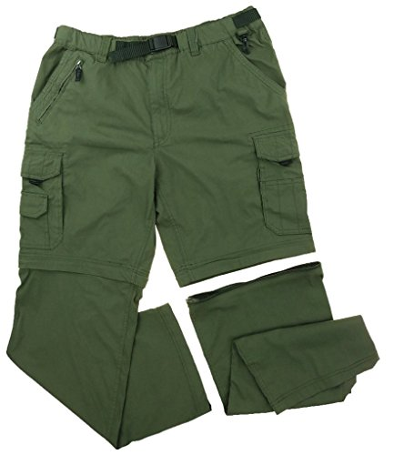 BC Clothing Men's Convertible Cargo Pant Short with Stretch, Relaxed Fit (M x 32) (Bc Clothing compare prices)