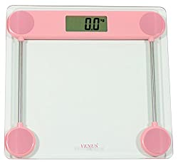 Venus Personal Electronic Digital LCD Weight Machine and Body Fitness Weighing Bathroom Scale (Pink)
