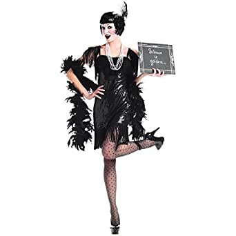 Party King Women's Silent Movie Flapper 5 Piece Costume Set