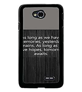 PrintDhaba Quote D-4721 Back Case Cover for LG L90 (Multi-Coloured)