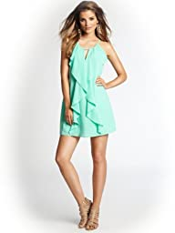 GUESS Women's Sleeveless Front Ruffle Dress