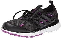 adidas Women\'s W Climacool II Golf Shoe, Core Black/Iron Metallic/Flash Pink, 10 M US