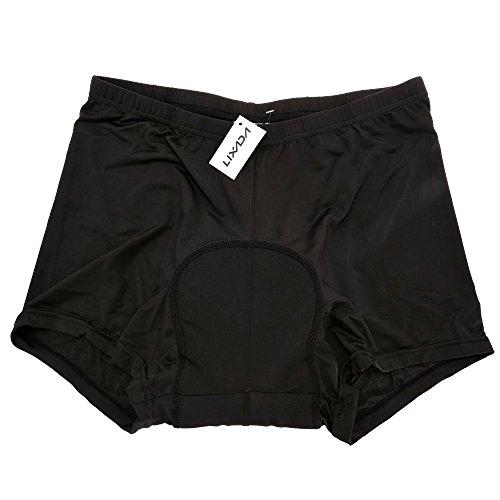 Lixada Uomo Nylon +Spandex Traspirante Ciclismo Imbottito Shorts per Ciclismo Gel Bike Pantaloni corti (M/L/XL/XXL/3XL Opzionale) (M)