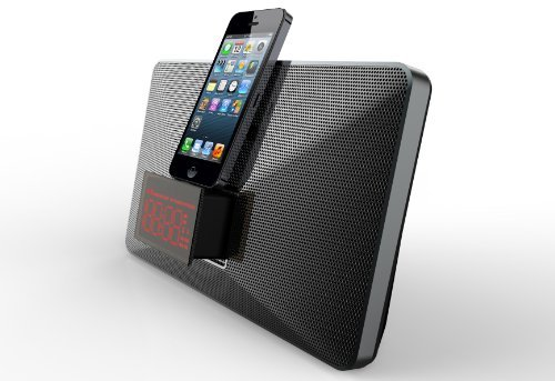 Mutant Mig-Ip01 M-Stealth 8-Pin Lightning Speaker Dock With Dual Alarm Clock For Apple Iphone 5S And Iphone 5C
