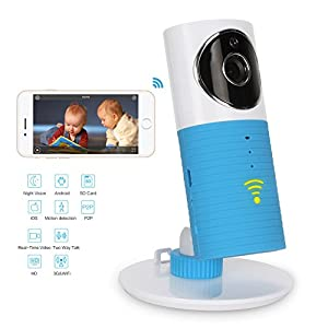 IdeaNext Smart Baby Monitor Wifi Video Baby Camera with P2p Night Vision Record Video Two-way Audio Motion Detected Support Tf Card for Iphone Ipad Android Smartphone and Tablets (Can Not Work with PC)