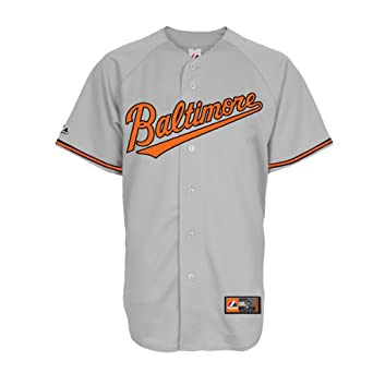 MLB Baltimore Orioles Cooperstown Replica Jersey, Road Gray by Majestic