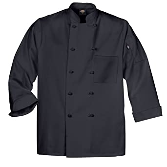 Dickies Mens DCP109 LS Knot Button Chef Coat