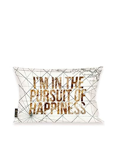 Oliver Gal Pursuit Of Happiness Lumbar Pillow, Multi