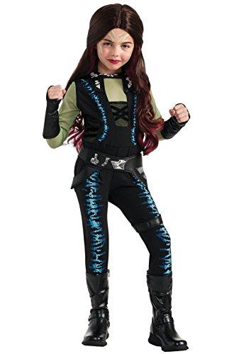 [Mememall Fashion Guardians of the Galaxy Deluxe Gamora Child Costume] (Deluxe Gamora Costumes)