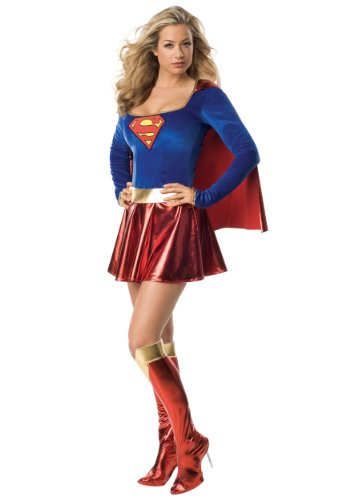 Rubies Womens Man Of Steel Supergirl Halloween Themed Party Fancy Sexy Costume