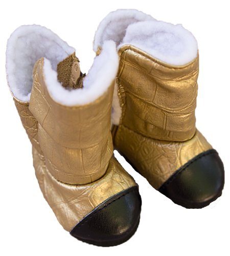 Gold Couture Doll Boots