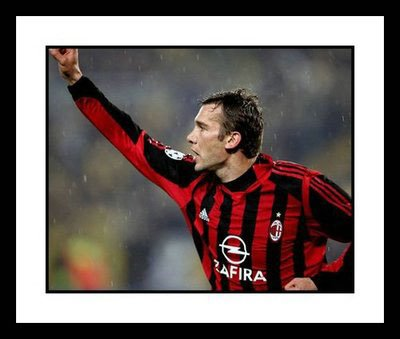 Goal Celebration - Framed 8x10 Photograph of Andriy Shevchenko AC Milan