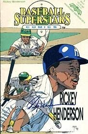 Rickey Henderson Autographed Signed Baseball Superstars Comic Book - Autographed MLB... by Sports Memorabilia