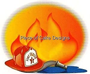1/4 Sheet ~ Firefighter Birthday ~ Edible Image Cake/Cupcake Topper!!!