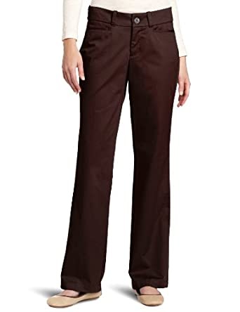 Dockers Women's Classic Metro Trouser Pant, Chocolate Brown, 6 M