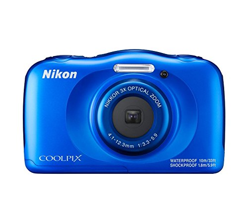 Nikon Coolpix W100 13.2 MP Point and Shoot Digital Camera (Blue) with 3x Optical Zoom, 8GB Memory Card and Camera Case  available at amazon for Rs.7950