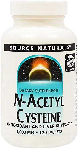Source Naturals N-Acetyl Cysteine (NAC) 1000 mg-120 Tablets (N Acetyl Cysteine 1000 compare prices)